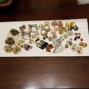 Bundle of 24 Pair Vintage Clip Earrings